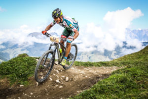 Radfahrer Saalbach